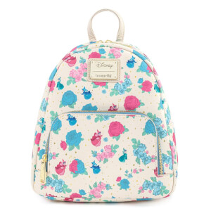 Loungefly Disney Sleeping Beauty Floral Fairy Godmotther AOP Mini Backpack