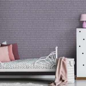Fresco Lilac Dreams Typography Wallpaper
