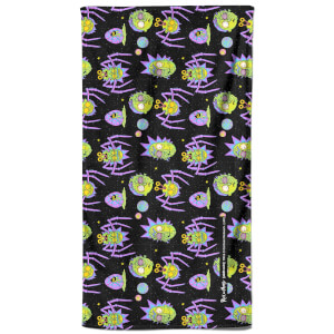 Rick and Morty Brain Head And Spiders Bath Towel