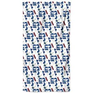 Johnny Bravo Pattern - Bathroom Towel