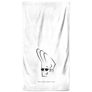 Johnny Bravo Head - Bathroom Towel