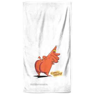 Cow and Chicken Red Bath Towel