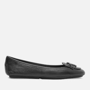 MICHAEL MICHAEL KORS Women's Lillie Leather Moc Flats - Black