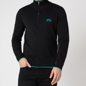BOSS Athleisure Men's Ziston_S21 Half Zip Jumper - Black