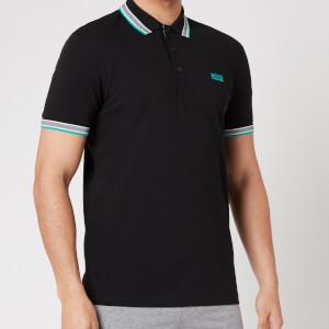 BOSS Athleisure Men's Paddy Pique Polo Shirt - Black/Green