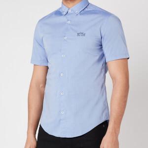 BOSS Athleisure Men's Biadia_R Short Sleeve Shirt - Blue