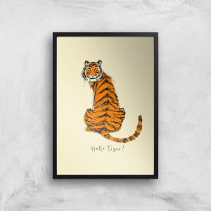 Poet & Painter Hello Tiger Giclee Art Print
