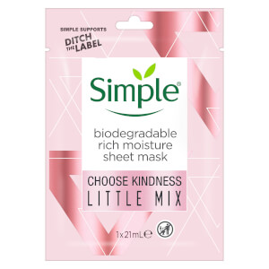 Simple Sheet Mask Rich Moisture 1PC Limited Edition Little Mix