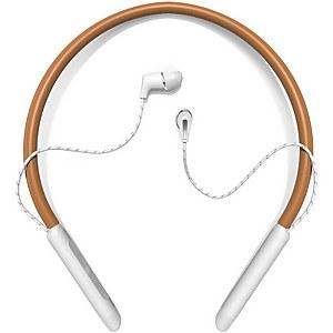Klipsch T5 Wireless In-Ear Neckband In-Ear Headphones - Brown Leather & Silver