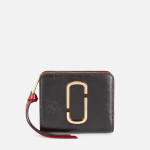 Marc Jacobs Women's Mini Compact Wallet - Black/Chianti