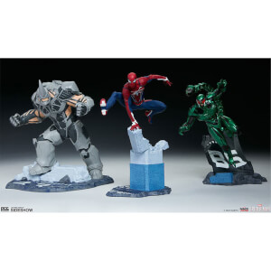 PCS Collectibles Marvel's Spider-Man 1/12 Spider-Man, Rhino and Scorpion 17cm Statue
