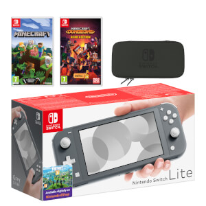 Nintendo Switch Lite (Grey) Minecraft Double Pack