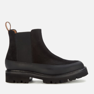 Grenson Women's Abbie Suede/Rubber Chelsea Boots - Black