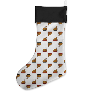 Christmas Turkey Print Christmas Stocking