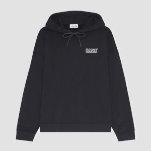 Ganni Women's Software Isoli Hooded Sweatshirt - Black