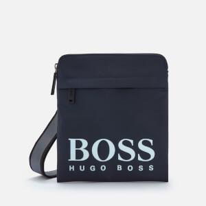 BOSS Men's Magnif214_S Zip Shoulder Bag - Navy