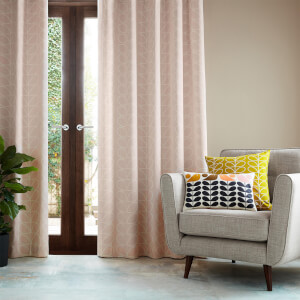 Orla Kiely Linear Stem Curtains - Cloud Pink - 66 x 72 Inches