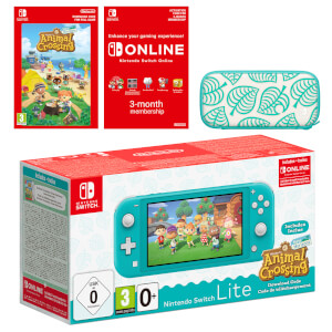 Nintendo Switch Lite (Turquoise) + Animal Crossing: New Horizons + Nintendo Switch Online (3 Months) Pack