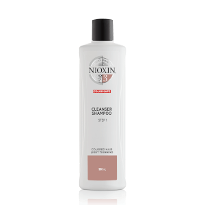 Nioxin System 3 Cleanser Shampoo for Color Treated Hair with Light Thinning 16.9 oz
