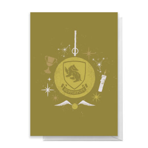 Harry Potter Hufflepuff Christmas Greetings Card