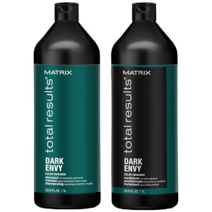 Matrix Dark Envy Colour Correcting  Green Shampoo and Conditioner Duo Set For Dark Brunettes 1000ml