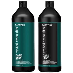 Matrix Dark Envy Colour Correcting Green Shampoo and Conditioner Duo Set For Dark Brunettes 1000ml