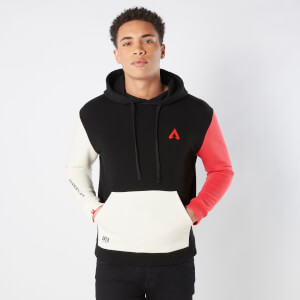 Original Hero Unisex Apex Legend Colour Block Oversized Hoodie - Black