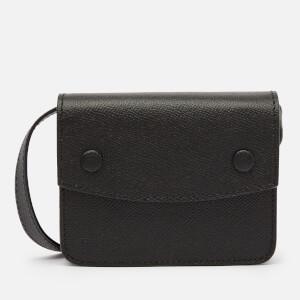 Maison Margiela Men's Grainy Embossed Belt Wallet - Black
