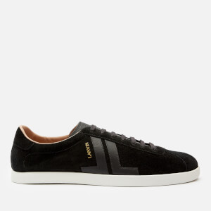 Lanvin Men's Suede/Leather Low Top Trainers - Black