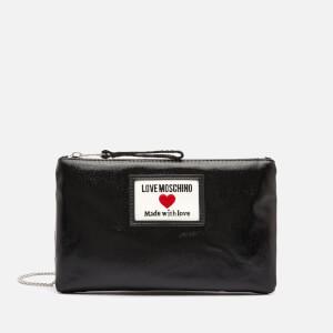 Love Moschino Women's Heart Logo Cross Body Pouch - Black