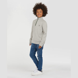 Barbour Boys' Half Zip Sweatshirt - Grey Marl