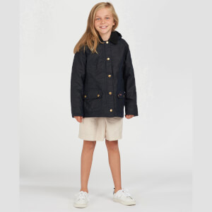 Barbour Girls' Beadnell Waxed Jacket - Royal Navy