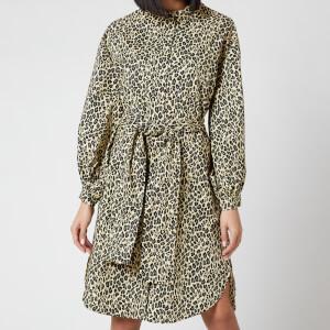 Munthe Women's Salvia Leopard Dress - Yellow
