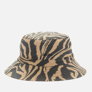Ganni Women's Printed Cotton Poplin Bucket Hat - Tannin