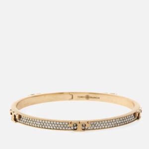 Tory Burch Women's Serif-T Bracelet - Brass/Crystal