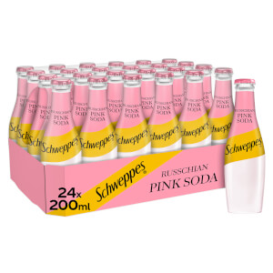 Schweppes Russchian Pink Soda 24 x 200ml