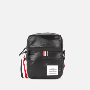 Thom Browne Men's Cross Body Camera Bag with Rwb Strap - Black