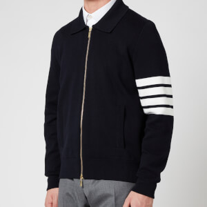 Thom Browne Men's Four-Bar Sleeve Bomber Jacket - Navy
