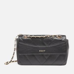DKNY Women's Quilted Chain Shoulder Bag - Black/Gold