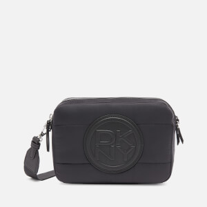 DKNY Women's Toby Quilted Nylon Camera Bag - Black