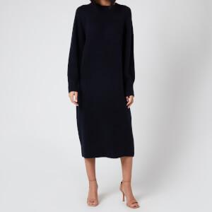 Whistles Women's Midi Length Knit Dress - Navy