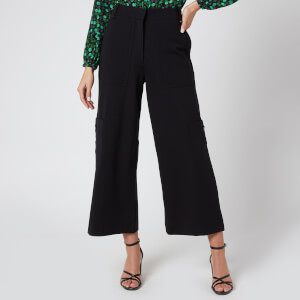 Whistles Women's Ponte Cargo Trouser - Black