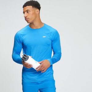 MP Men's Tempo Graphic Long Sleeve Top - Bright Blue