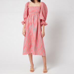 Sleeper Women's Atlanta Linen Dress - Red Gingham