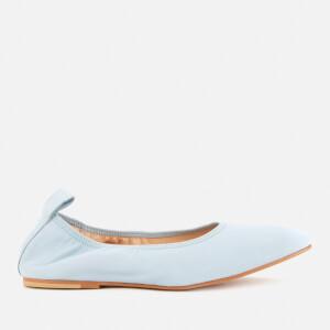 Clarks Women's Pure Leather Ballet Flats - Pale Blue
