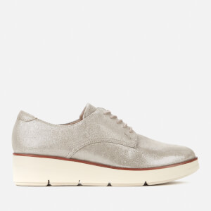 Clarks Women's Shaylin Lace Suede Flatform Shoes - Stone Metallic