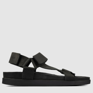 Clarks Men's Sunder Range Nubuck Sandals - Black