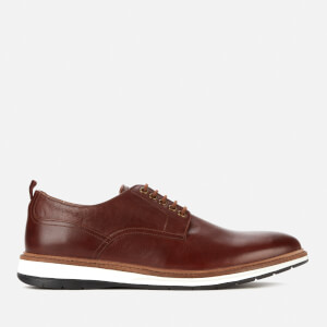 Clarks Men's Chantry Walk Leather Derby Shoes - Dark Tan