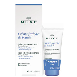 NUXE Crème Fraiche de Beauté 48hr Moisturising Cream for Normal Skin 30ml with 15ml Gift