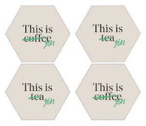 This Is Tea Hexagonal Coaster Set